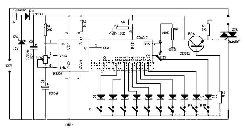 Universal electronic timer circuit diagram - schematic