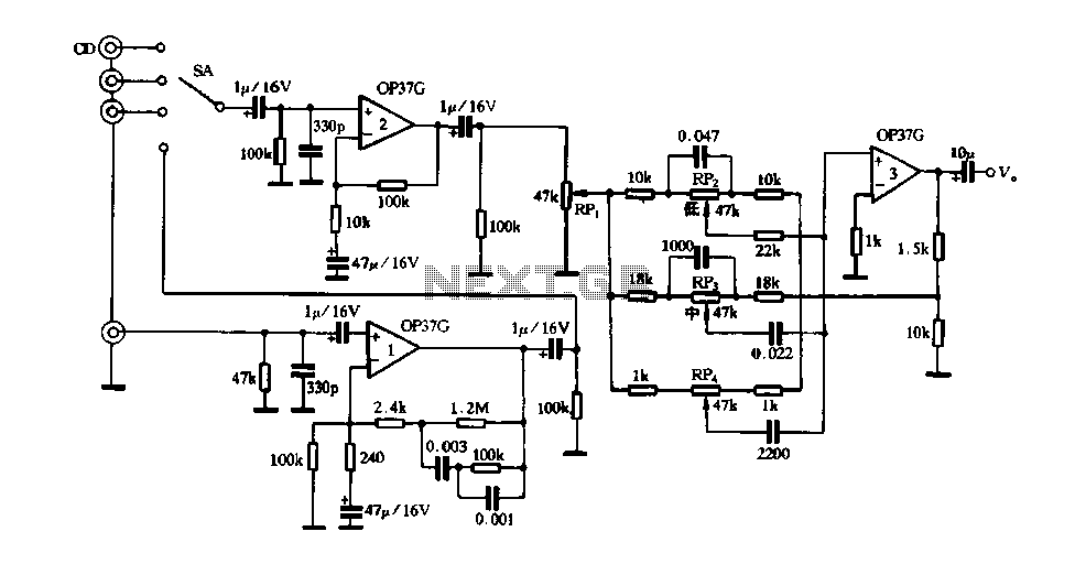 Using OP37 preamp - schematic