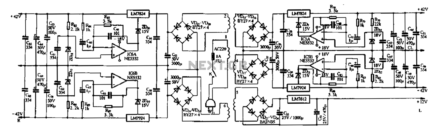 Vanda F9500 servo power - schematic