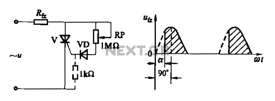 Variable resistive phase-shift trigger circuit ab - schematic