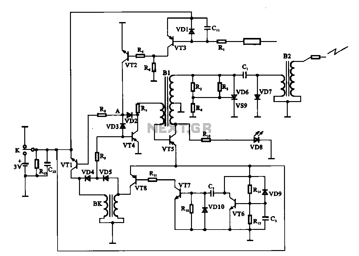 Water heaters electronic ignition circuit - schematic