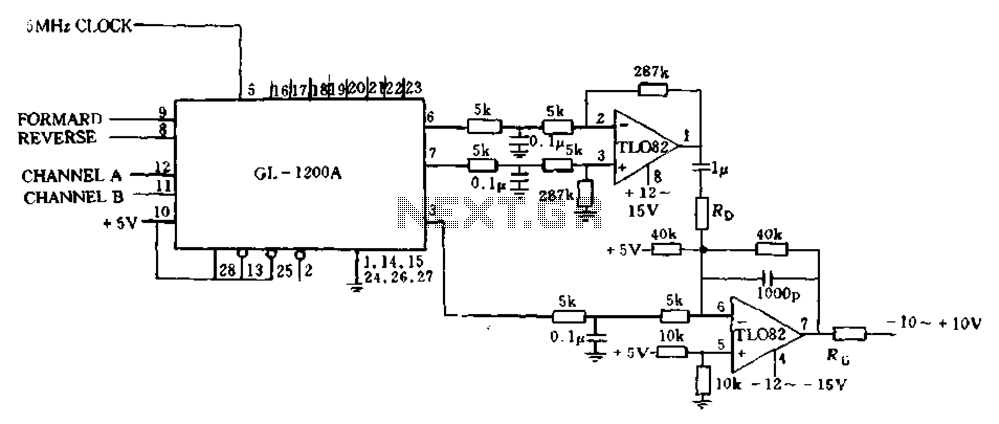 Which only uses the 5V power supply connection circuit - schematic