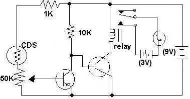 Electronic Night Light - schematic