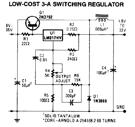 3A Switching Power Supply - schematic