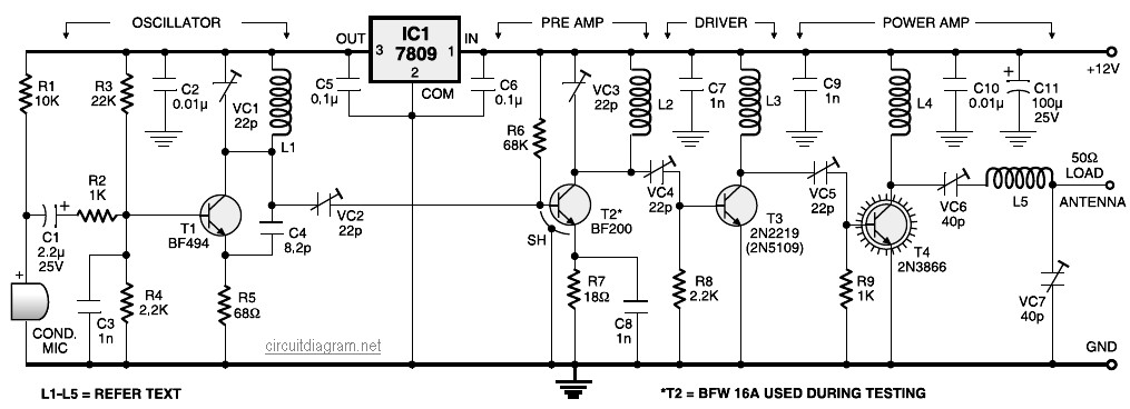 Terrific Fm Transmitter Circuit Page 4 Rf Circuits Next Gr Wiring Digital Resources Funapmognl