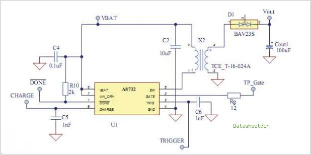Ultra Small Mobile Phone Xenon Photoflash Capacitor Charger With IGBT Driver - schematic