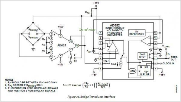 Monolithic Synchronous Voltage-to-Frequency Converter - schematic