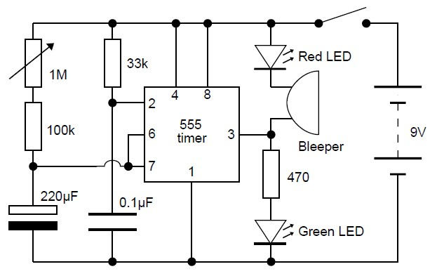 Adjustable Analog Timer Circuit - schematic