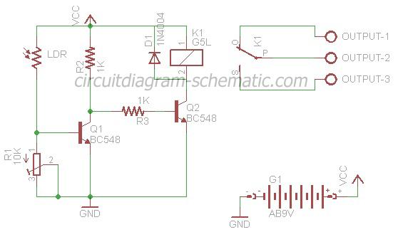 circuits > auto lamp lighting schematic using the light sensor ...