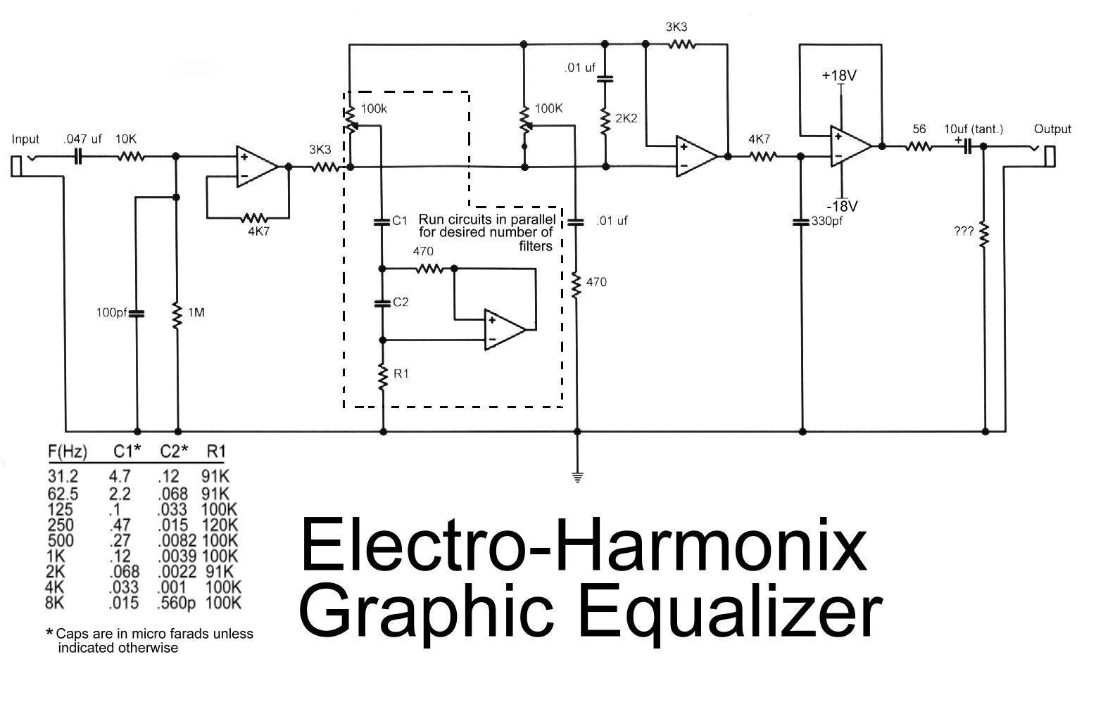 Equalizer Circuit Audio Circuits Simple Spectrum Analyzer Electronic Projects Electro Harmonix Graphic