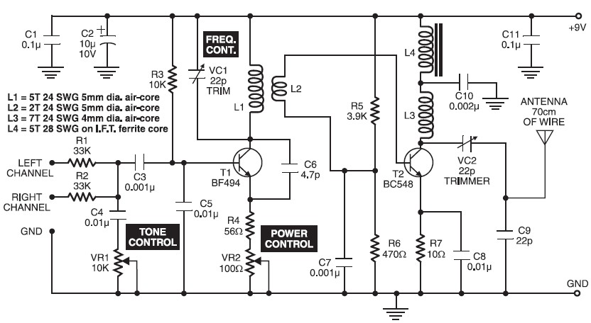 Good Quality 500M FM Transmitter Circuit Diagram transmitter circuit page 4 rf circuits next gr ford ltl 9000 wiring diagram at sewacar.co
