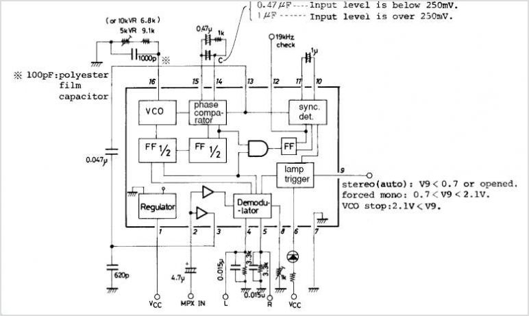 la3361 pll fm multiplex stereo demodulator under repository-circuits