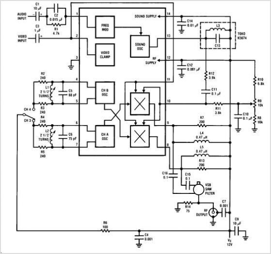 LM2889 Lm2889 Tv Video Modulator - National Semiconductor - schematic