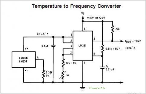 LM331 Precision Voltage-to-Frequency Converter - schematic