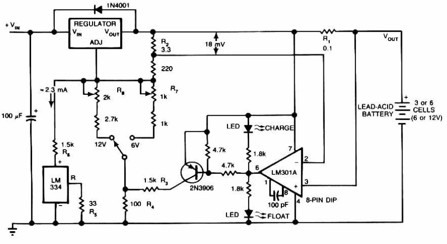 Lead-Acid Battery Charger circuit diagram - schematic