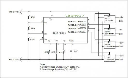 PS10 Quad Power Sequencing Controller - Supertex Inc - schematic