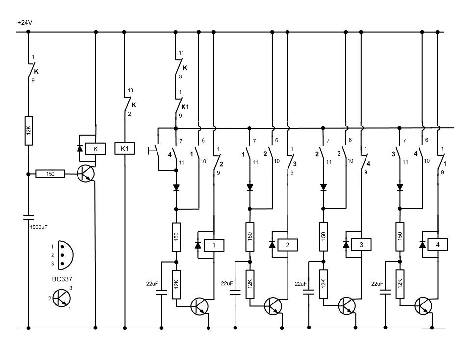 extended counter using cd4017 - schematic