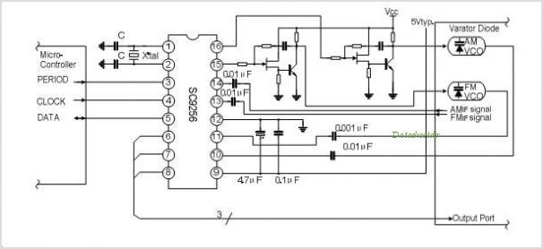 SC9256 PLL FOR DIGITAL TUNING SYSTEM - schematic
