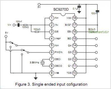 SC9270D DTMF RECEIVER - schematic