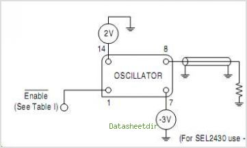 SEL2411AA Crystal Clock Oscillator 3.3 & 5V High Frequency ECL - schematic