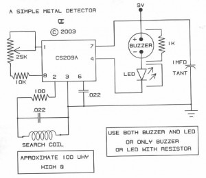 Simple Metal Detector - schematic
