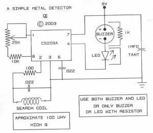 Metal detector circuit page 2 sensors detectors circuits next simple metal detector ccuart Choice Image