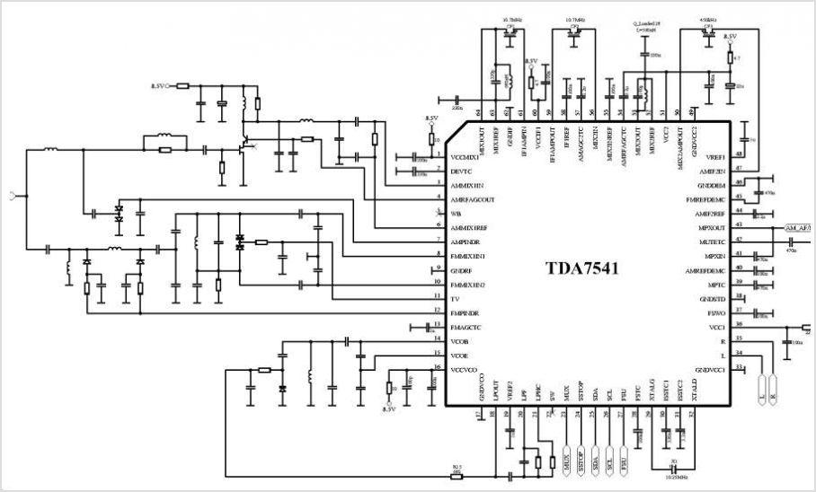 Tda Circuits on Am Fm Radio Receiver Circuit Diagram