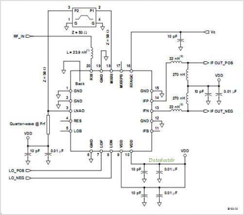TRF1115 RF Down-Converter - schematic