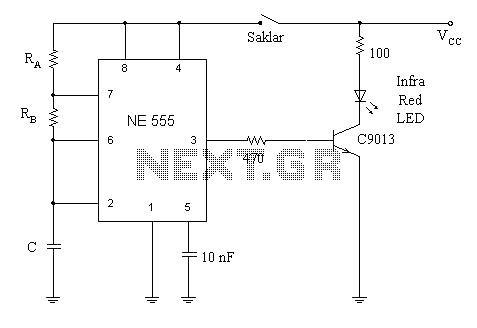 remote control using the ne 555 and lm 567 - schematic