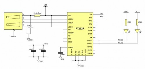 Usb To Rs232 Converter Schematic: circuits e usb to rs232 converter using ft232 l23209 - Next.grrh:next.gr,Design