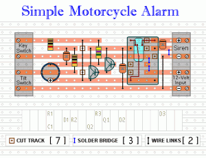 Easy Build Motorcycle Alarm - schematic