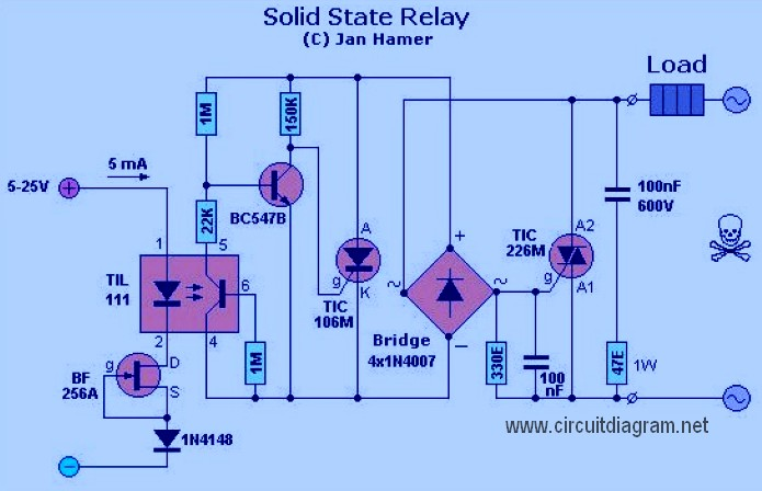solid state relay - schematic