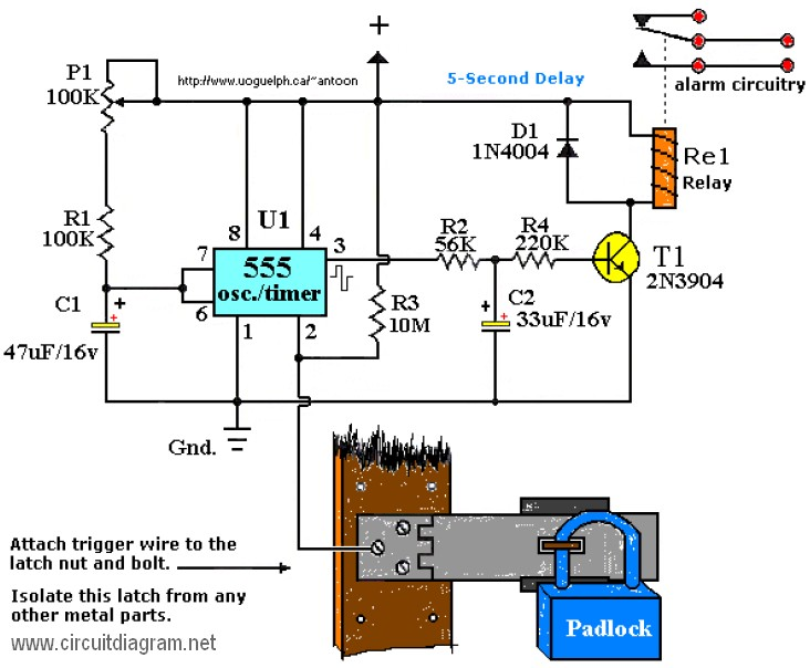 touch alarm system - schematic