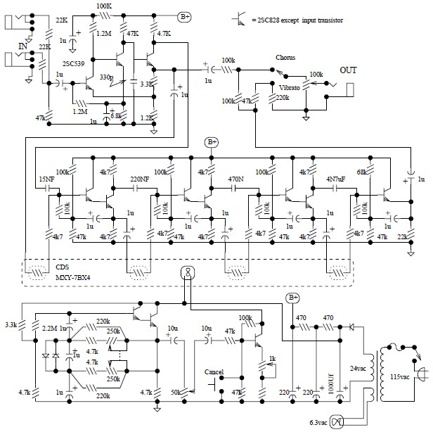 univibe pedal circuit diagram under repository