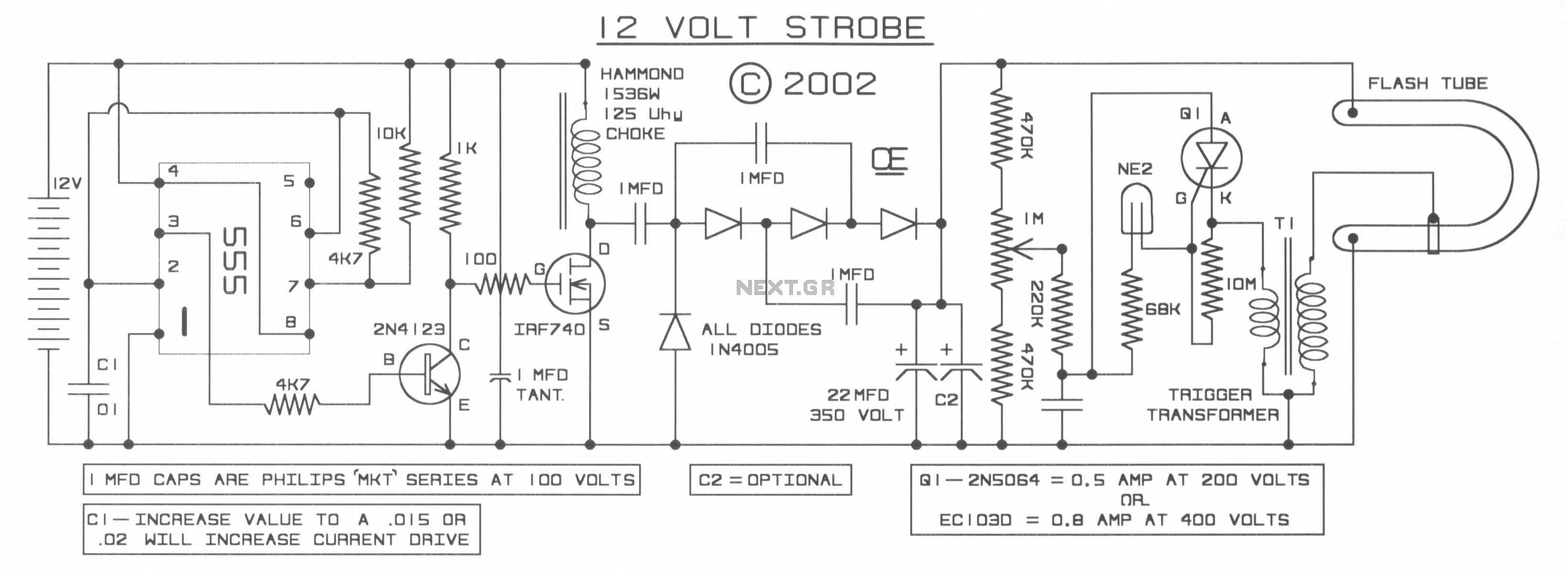 1222-54d1222 Quench Tube Circuit Schematic Diagram Strobe on
