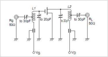 2SK543 FM Tuner VHF Band Amplifier - schematic