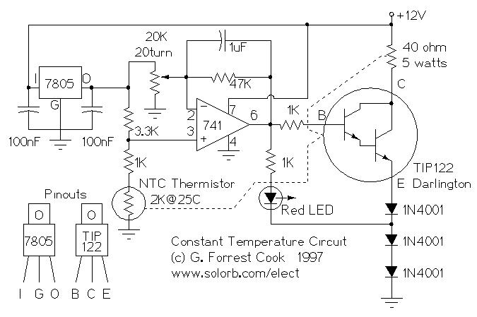 Constant Temperature Circuit Under Repository Circuits