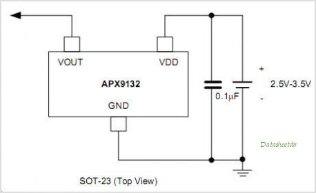 APX9132 Hall Effect Micro Switch IC - schematic
