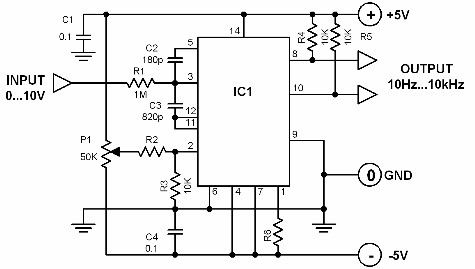 voltage frequency converter - schematic