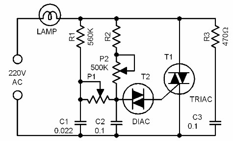 lamp dimmer - schematic