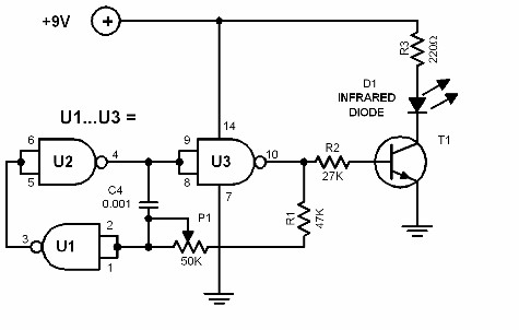 optically coded key - schematic