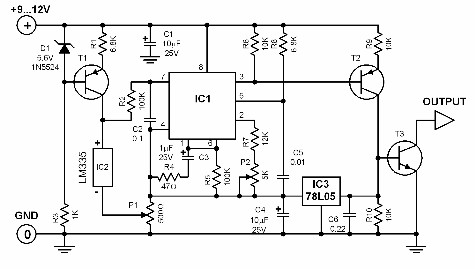 cto frequency converter - schematic