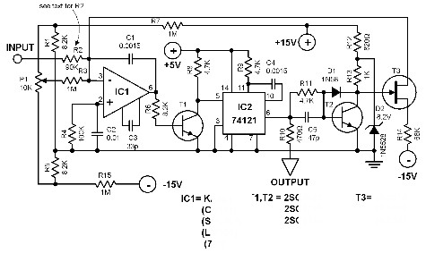 voltage to frequency converter - schematic