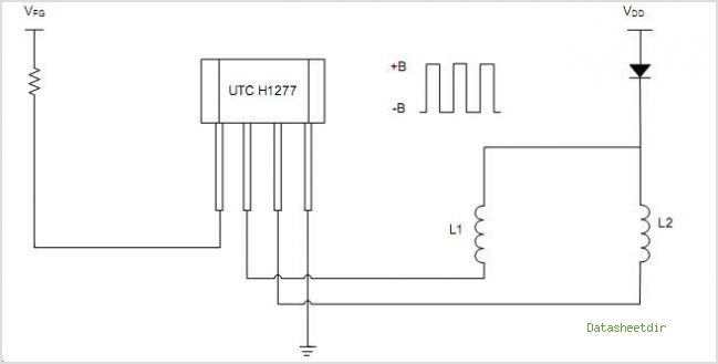 H1277 HIGH SENSITIVITY HALL EFFECT SENSOR IC WITH FG OUTPUT - schematic