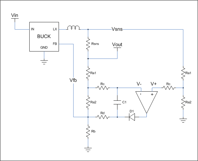 Current Limit Circuit for Voltage Regulator - schematic