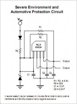 MLX90224 Dual Hall Effect Latch - schematic