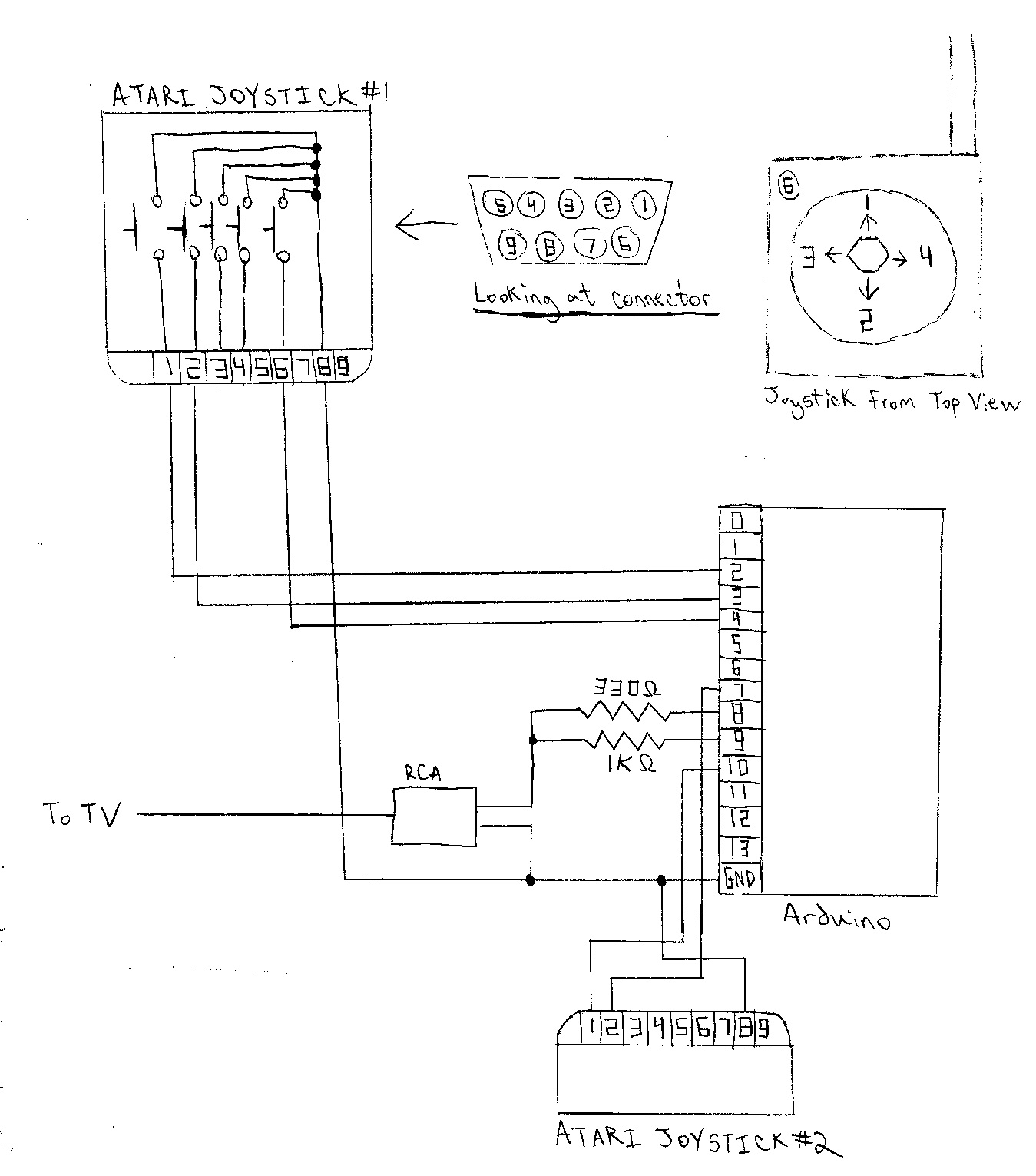 Pong Game Console - schematic