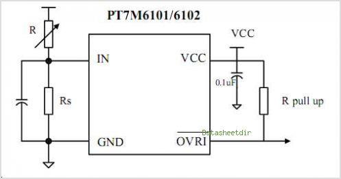 PT7M6101 Ultra Low Voltage Detectors - schematic