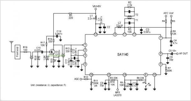 sa1140 fm radio ic for digital tuning system under