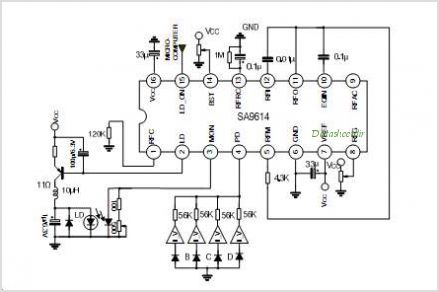 SA9614 RF AMPLIFIER FOR DIGITAL SERVO SYSTEM - schematic